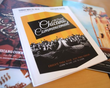 Chicano Commencement Yearbook Design